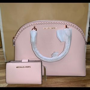 Rose Gold Michael Kors Purse Set